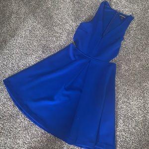 Blue Express Cut-out Dress